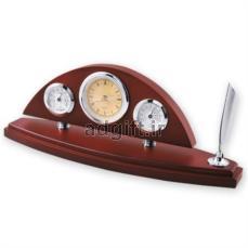 ساعت چوبی رومیزی به همراه دماسنج و رطوبت سنج