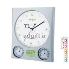 ساعت دیواری با رطوبت سنج و دماسنج