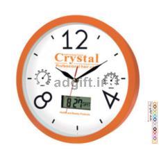 ساعت دیواری مدل کلاسیک با تقویم دیجیتال شمسی