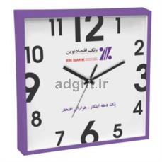 ساعت دیواری مدل وینا با چاپ روی شیشه